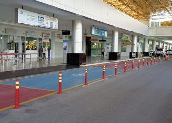 PPKM Darurat Jawa - Bali: Terminal Bandara Juwata Tarakan Tampak Sepi dari Penumpang. Foto: fokusborneo.com