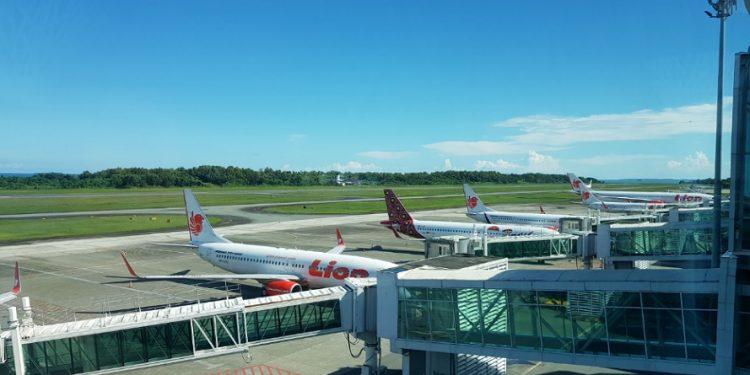 Pesawat Lion Air di Bandara Aji Sulaiman Sepinggan Balikpapan. Foto : Fokusborneo.com