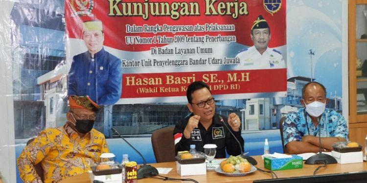 Wakil Ketua Komite II DPD RI Hasan Basri kunker ke BLU Kantor UPBU Juwata Tarakan. Foto : Tim Media HB.