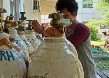 Tabung Gas Oksigen di RSUD Tarakan. Foto: fokusborneo.com