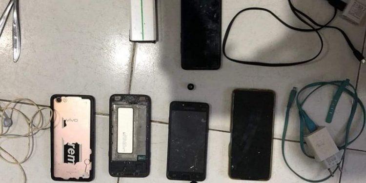 Razia: Handphone Milik Warga Binaan Lapas Tarakan yang Berhasil Disita Petugas. Foto: IST/Lapas