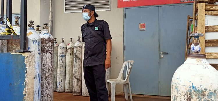 Tabung Gas Oksigen Kosong di Pabrik Oksigen Milik RSUD Tarakan. Foto: fokusborneo.com