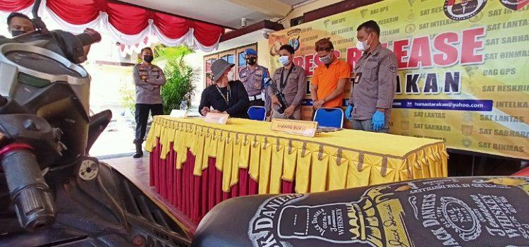 Berhasil Ditangkap: Pelaku Perampokan dan Penikaman (Baju Orange) Diamankan Polres Tarakan. Foto: fokusborneo.com