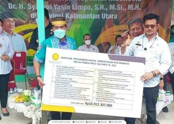 Menteri Pertanian DR. Syahrul Yasin Limpo kucurkan bantuan untuk Pemprov Kaltara 16,9 miliar. Foto : Biroadpim.