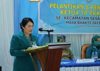 Wakil Ketua TP PKK Kabupaten Tana Tidung, Ny.Diana Hendrik