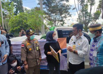 Menteri Pertanian Yasin Limpo Bersama Gubernur Kaltara Zainal Arifin Paliwang di Kantor BKP Kelas II Tarakan. foto: ist